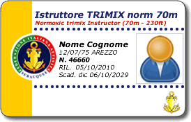 Istruttore Trimix normossico 70m/230 ft